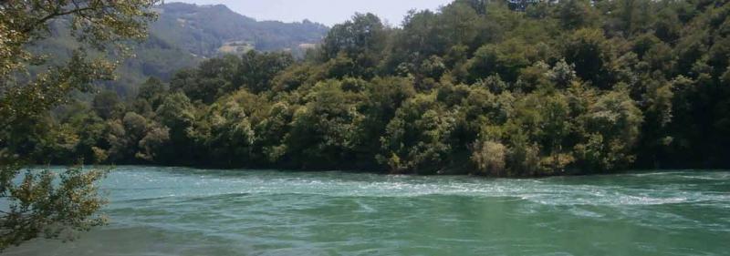 reka Drina pored brvnara za odmor